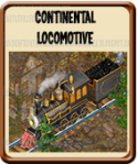 Golden Frontier Continental Locomotive