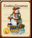 Golden Frontier Cowboy Snowman