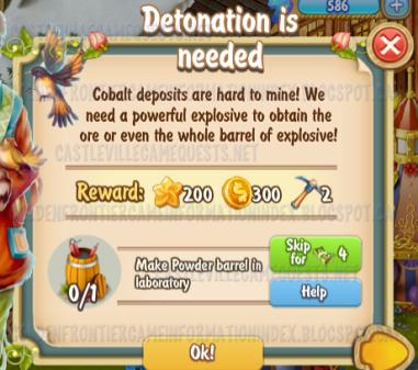 Golden Frontier Detonation is Needed Quest