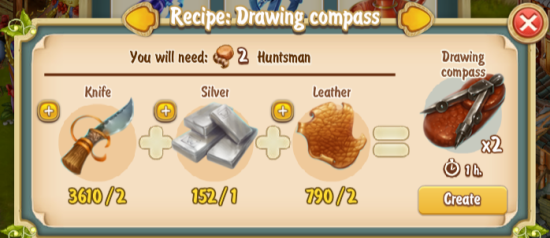 Golden Frontier Drawing Compass Recipe (smithy)
