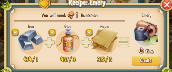 Golden Frontier Emery Recipe (printing Press)