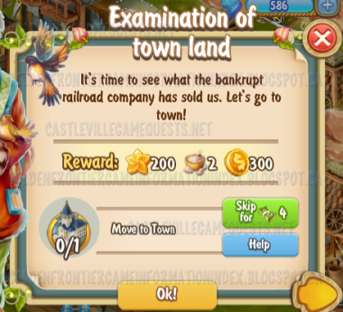 Golden Frontier Examination of Town Land Quest