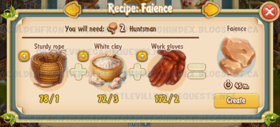 Golden Frontier Faience Recipe (pottery)