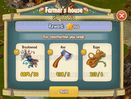Golden Frontier Farmer's House Stage 1