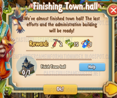 Golden Frontier Finishing Town Hall Quest