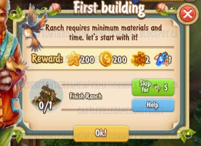 Golden Frontier First Building Quest