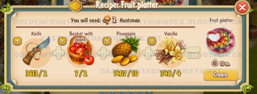 Golden Frontier Fruit Platter Recipe