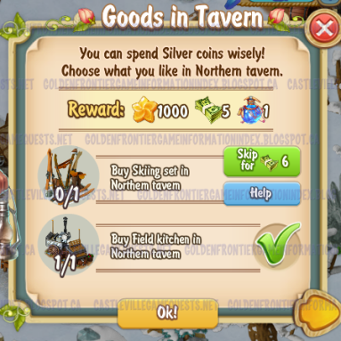 Golden Frontier Goods in Tavern Quest