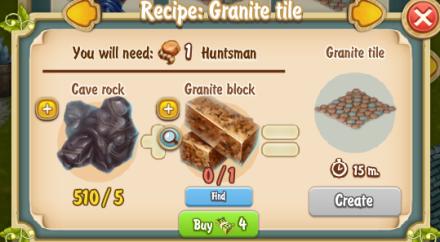 Golden Frontier Granite Tile Recipe (Sculptor's House)