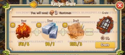 Golden Frontier Grate Recipe (smithy)