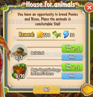 Golden Frontier House for Animals Quest