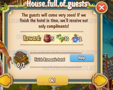 Golden Frontier House Full of Guests timed Quest