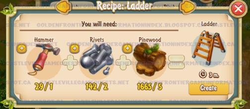 Golden Frontier Ladder Recipe