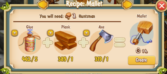 Golden Frontier Mallet Recipe (Workshop)
