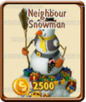 Golden Frontier Neighbor Snowman