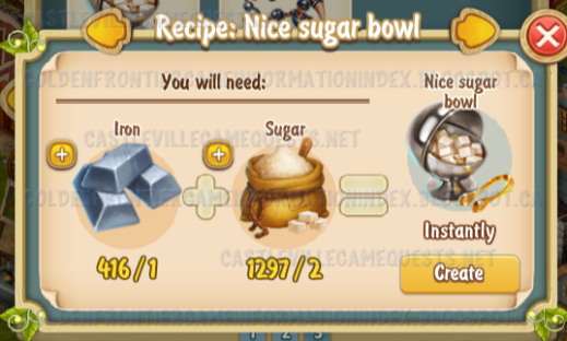 Golden Frontier Nice Sugar Bowl Recipe