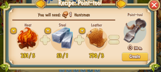 Golden Frontier Point tool Recipe (smithy)