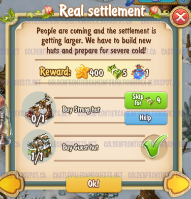 Golden Frontier Real Settlement Quest