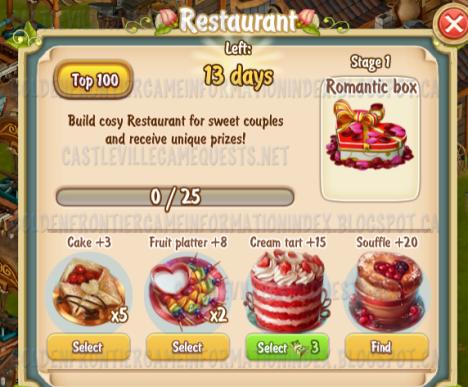Golden Frontier Restaurant Stage 1