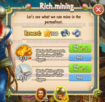 Golden Frontier Rich Mining Quest