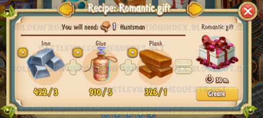 Golden Frontier Romantic Gift Recipe