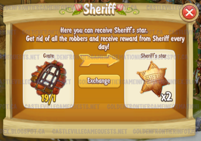 Golden Frontier Sheriff trading Grate