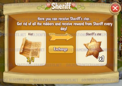 Golden Frontier Sheriff trading Hint