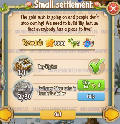 Golden Frontier Small Settlement Quest