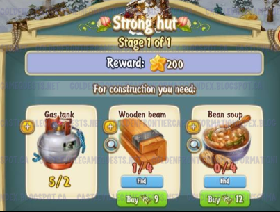 Golden Frontier Strong Hut Stage 1
