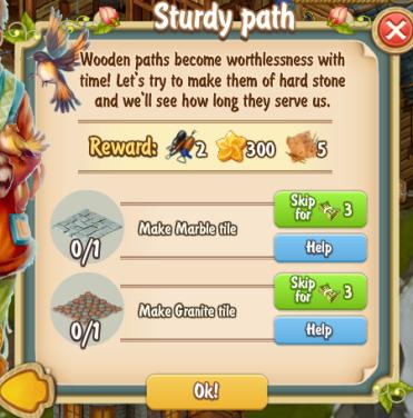 Golden Frontier Sturdy Path Quest