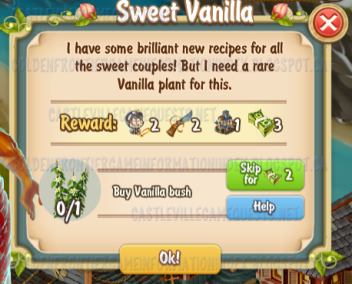 Golden Frontier Sweet Vanilla Quest