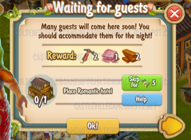 Golden Frontier Waiting for Guests Quest