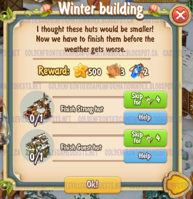 Golden Frontier Winter Building Quest