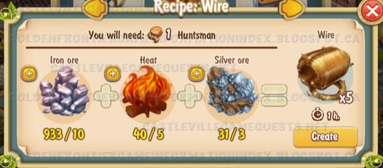 Golden Frontier Wire Recipe (smithy)