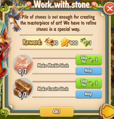 Golden Frontier Work With Stone Quest