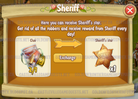 Sheriff Trading Clues