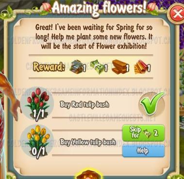 Golden Frontier Amazing Flowers Quest