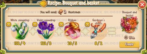 Golden Frontier Bouquet and Basket Recipe (Florist's Shop)