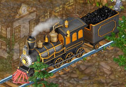 Golden Frontier Continental Locomotive