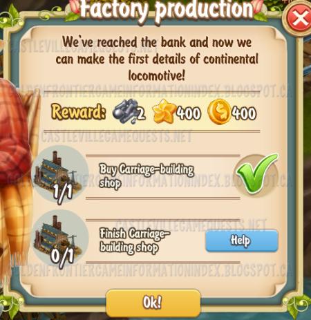 Golden Frontier Factory Production Quest