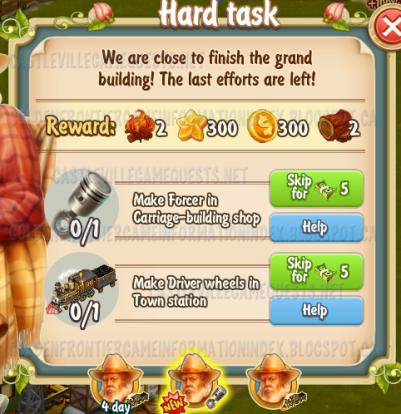 Golden Frontier Hard Task Quest