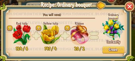 Golden Frontier Ordinary Bouquet Recipe (Florist's Shop)