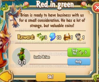 Golden Frontier Red in Green Quest