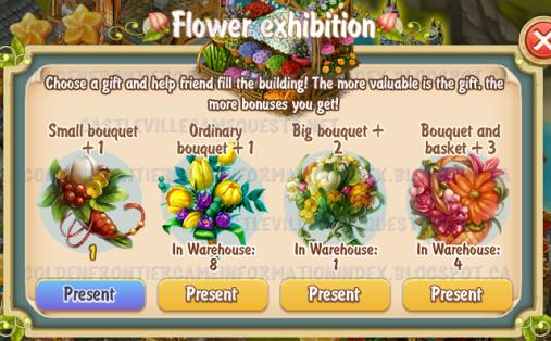 Golden Frontier Tending Neighbor Flower Exhibition