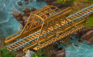 Golden Frontier Town Bridge