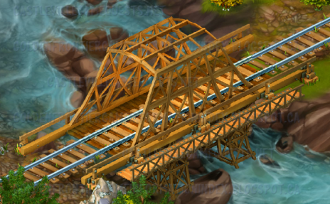 Golden Frontier Town Bridge