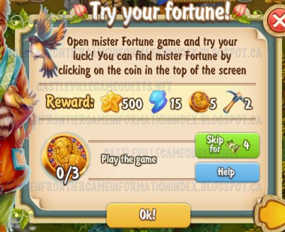 Golden Frontier Try Your Fortune Quest