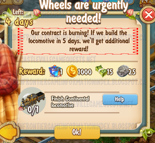 Golden Frontier Wheels are Urgently Needed Quest