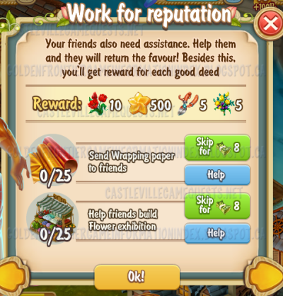 Golden Frontier Work for Reputation Quest