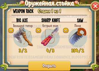 Weapon Rack Materials